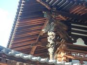 091219法隆寺金堂二層支柱(鎌倉時代)@エコカフェ.JPG