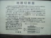 100612地層切断面看板@エコカフェ.JPG