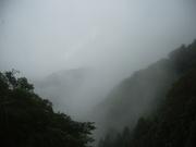 120616煙る山並み@エコカフェ.JPG