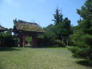 120805大願寺山門と鐘楼堂@エコカフェ(佐渡島).JPG