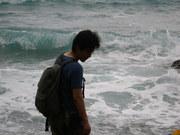120918見つめる私@エコカフェ(母島).JPG