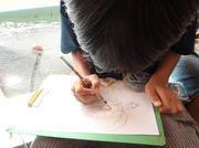 120929絵を描く@エコカフェ(小笠原海洋センター).jpg