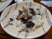 130908熊肉炊き込みご飯@エコカフェ.JPG