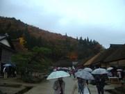 141101雨の大内宿@エコカフェ.JPG