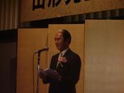山形先生不慣れな挨拶@エコカフェ.JPG