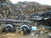 SL残骸と瓦礫の山@エコカフェ.JPG